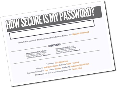HowSecureIsMyPassword to Know your Password Strength