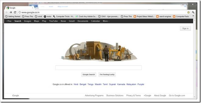 google doodle 9-5-12