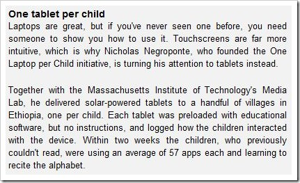 one tab per child